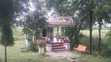 A shrine along the roadside.