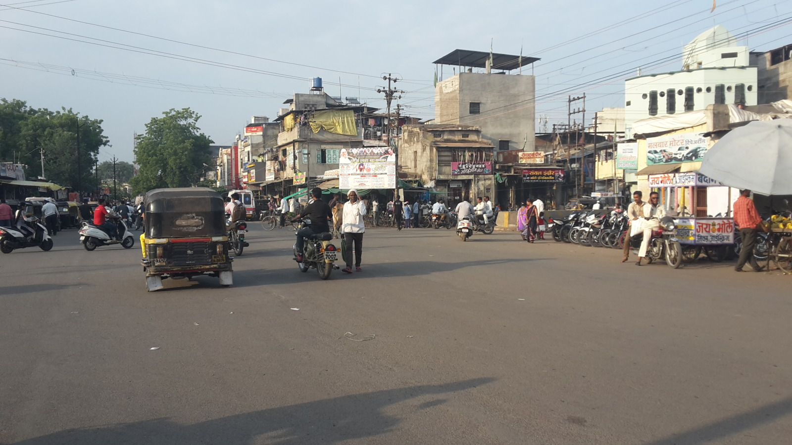 Crossroads in Dhule.