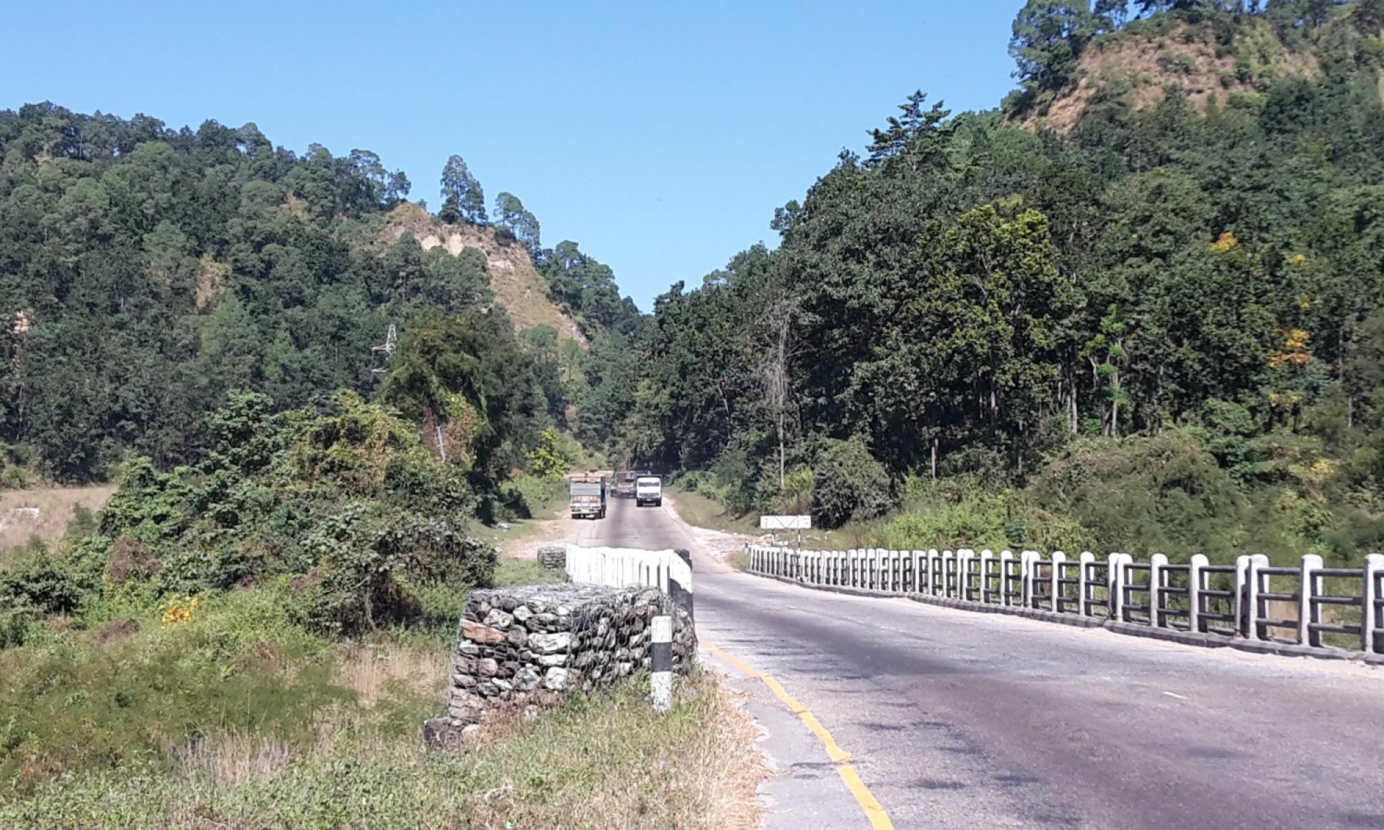 Start of the climb up to Hetauda.