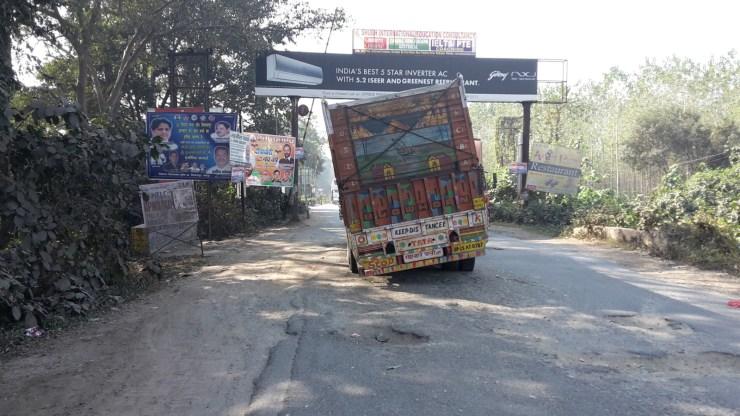 Broken down lorry