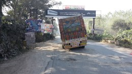 Bad roads on the way to Moradabad.