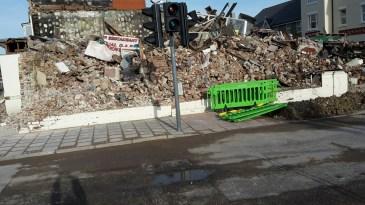 Burnt out restaurant and night club in Bognor Regis