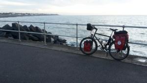 Leaving Felpham by bike