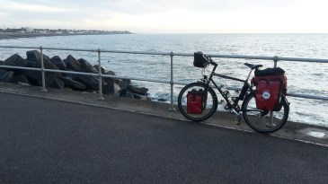 Leaving Felpham by bike