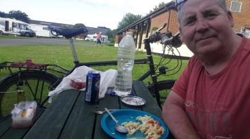 Garry McGivern enjoying supper
