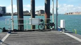 Bike on a jetty