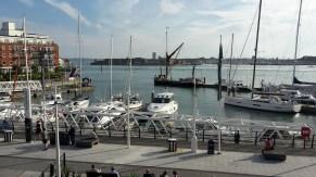 Boats at Gunwharf quays Porstmouth