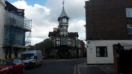 Ernest Smith clock tower in Portsmouth