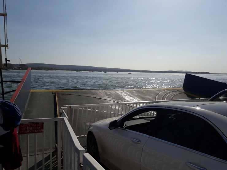 Cars on a ferry