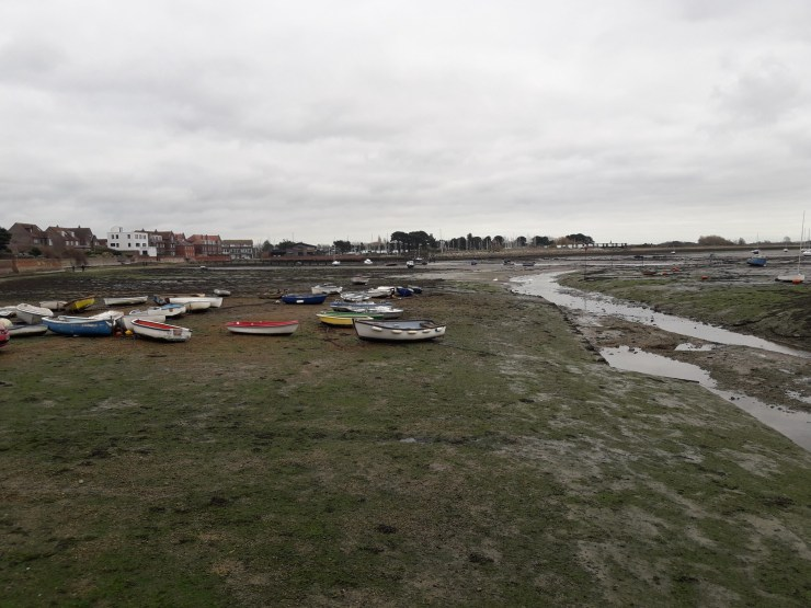 Dried out harbour