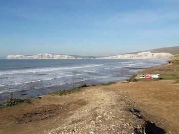 White cliffs and sea