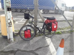 Touring bike with panniers