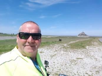 Man at Mont Saint-Michel