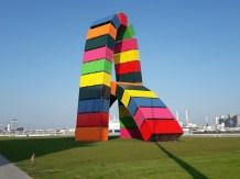 Grass colourful sculpture