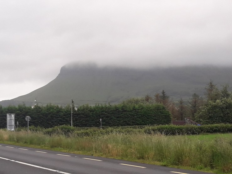 Clouds on a mountain