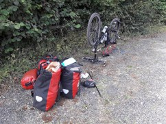 Everything off to fix the puncture