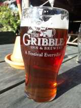 Enjoying a pint at one of Garry's local pubs