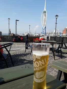 A quick drink in old Portsmouth