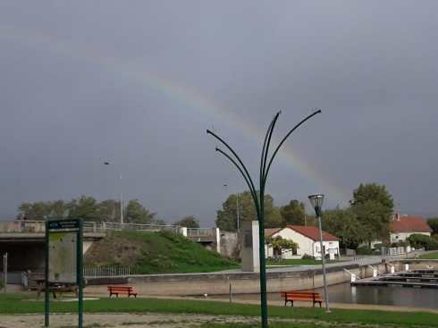 Rainbow in Chagny