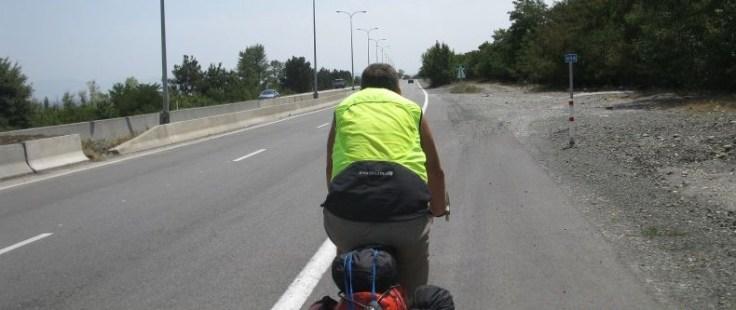 Man on road
