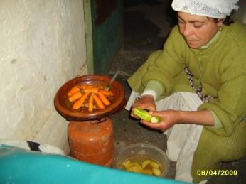 Lady preparing food