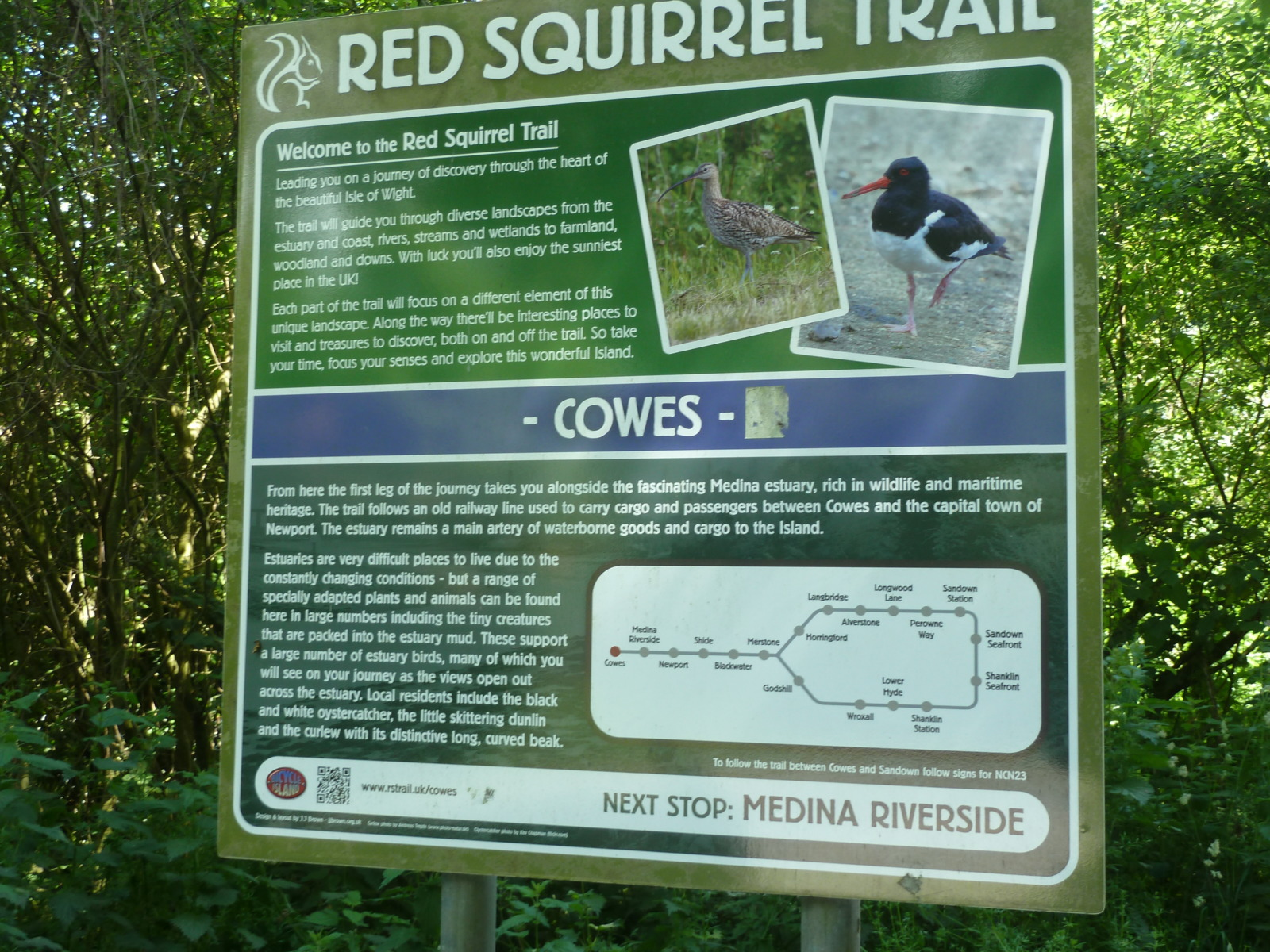 Red Squirrel Trail sign