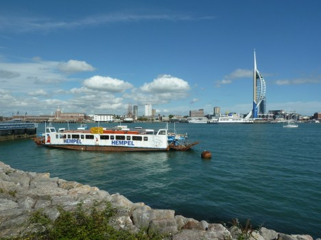 Spinnaker tower viewed from Gosport