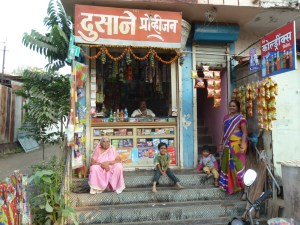 The local shop in Dhule that Garry used to use