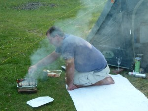 Garry McGivern cooking supper