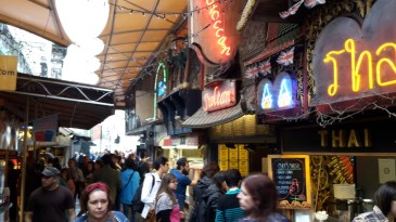 Street food in the Stables Market Camden