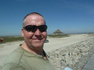 Garry McGivern at Le Mont-Saint-Michel