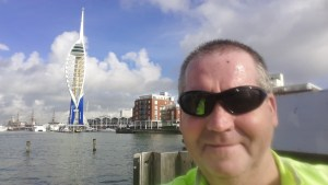 Garry McGivern at the Spinnaker Tower