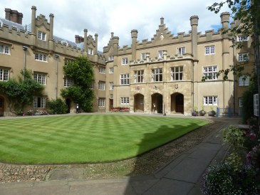 Hall court Sidney Sussex college Cambridge