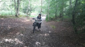 Pushing a bike in the New Forest