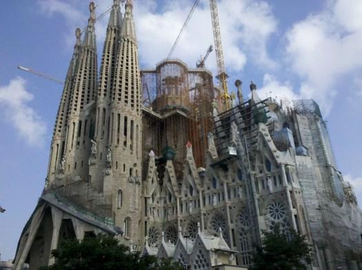 La Sagrada Familia church, Barcelona Spain