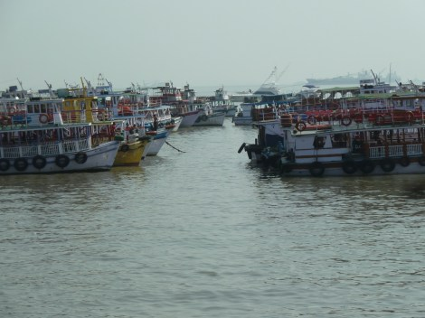 Ferry boats waiting to go to Elephant island