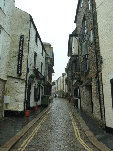 Narrow streets in Plymouth