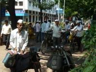 A few of the dabbawalas in Mumbai.