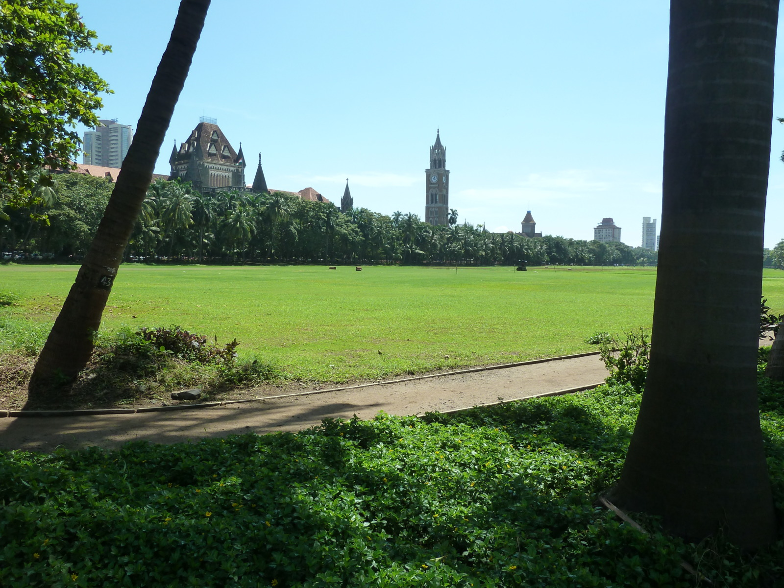 Looking towards the Oval Maiden, Mumbai