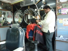 The barbers in Dhule.