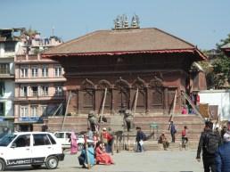 Shiva Parvati temple in Durbar Square Kathmandu.