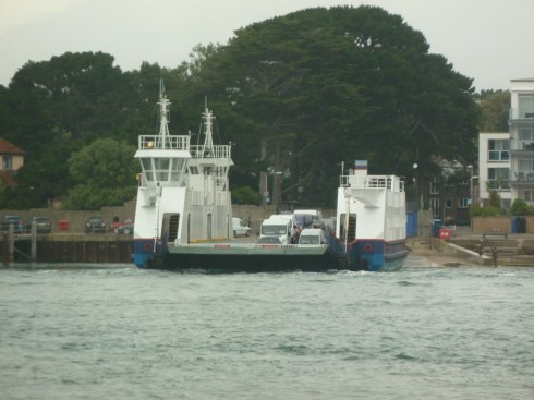 Chain link ferry at Sandbanks