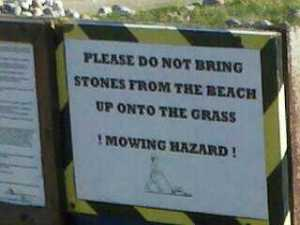 Wittering Beach Sign