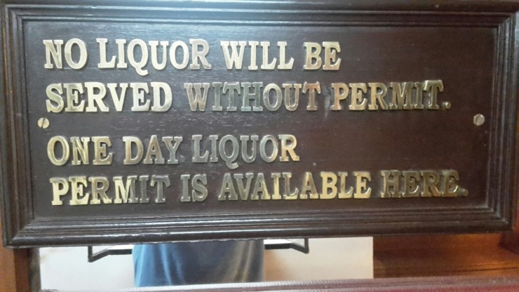 Liquor sign in India
