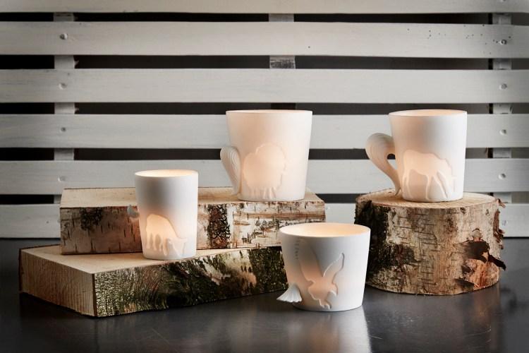 Holzuntersetzer für Tassen