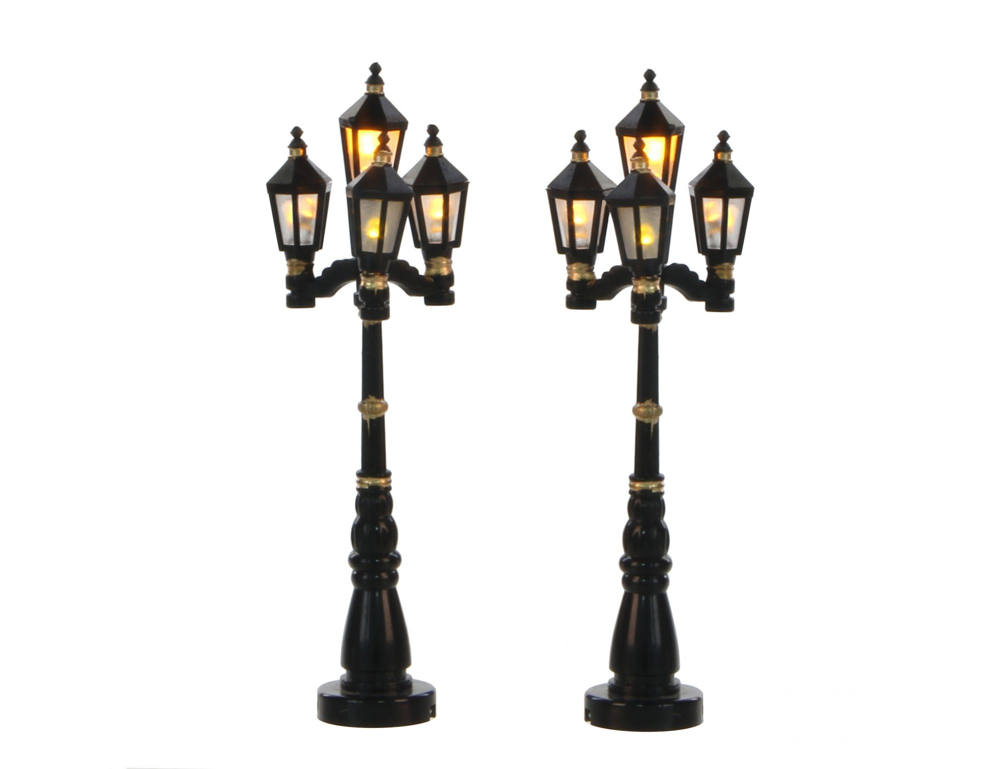 Old English Street Lantern 2 Pieces Battery Operated