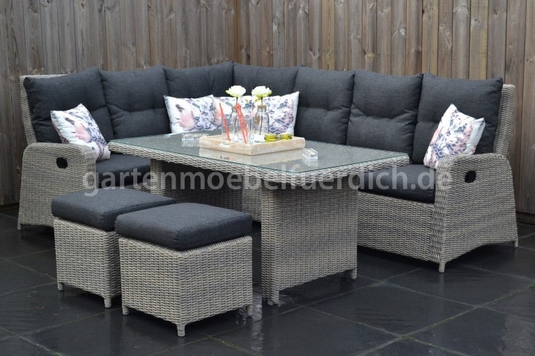 indiana verstellbare lounge dining ecke mixed brown mit esstisch, Esstisch ideennn