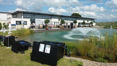 interview oase tv gartenteich testcenter oase gmbh hoerstel durchlauffilter in aktion