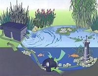 oase aquamax eco twin mit skimmer