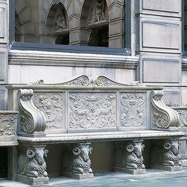 Steinbank aus Steinguss - Chartwell Seat